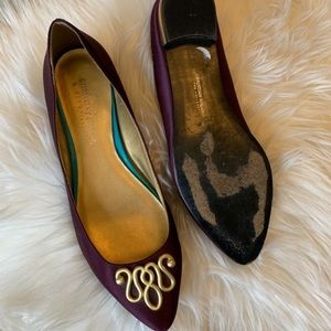 Christian Siriano Shoes - Christian Siriano Ballet Flats Gold Accent
